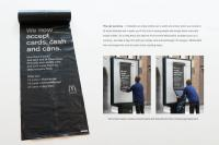 A local billboard announced that the Golden Arches would accept