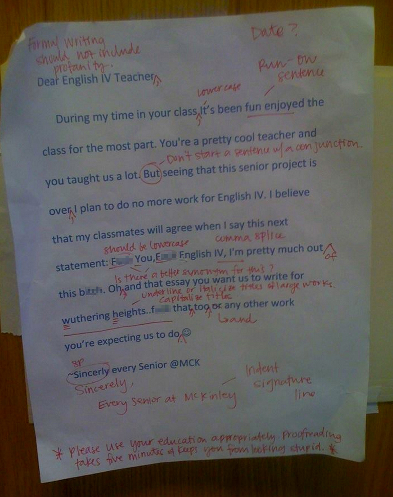 Awesomely Bad and Funny Student Responses to Test Questions