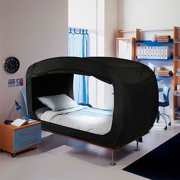 (Source privacypop.com) The Bed Tent is simply a tent that attaches & A privacy bed: tent bed for adults or kids | Tellwut.com