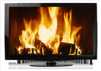 Image result for tv yule log