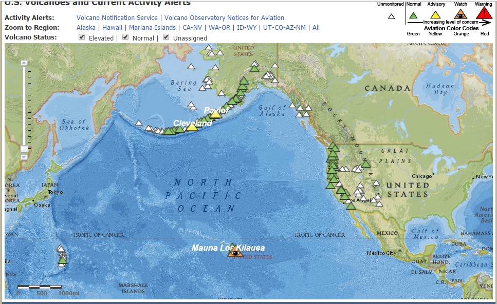 Volcanoes of the United States [USGS]