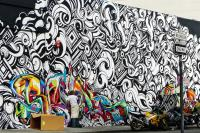 You know, I've got to wonder what drives individuals to deface others' property. I have my own hunches. Yet, some graffiti is truly beautiful. Have you seen, in person, what you would call beautiful graffiti? (Photo is street art by Roberto Cavalli.)