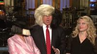 Not surprisingly, one of the skits centered on The Donald's fine head of hair. Do you think Trump really thinks his hair is terrific?