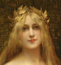 Here is a image of Medusa as a golden-haired and very beautiful maiden. Do you think she was beautiful?