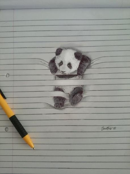 Do you like this drawing of the panda bear?
