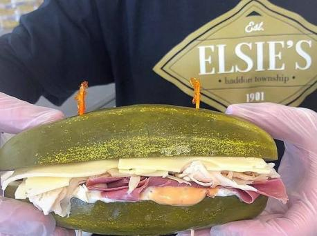 Why put pickles on your sandwich, the pickles can be the sandwich. Elsie's, in Haddon Township, New Jersey (near Philadelphia), is replacing the bread on a sandwich with thick pickles. Are you familiar with Elsie's that is located in Haddon Township?