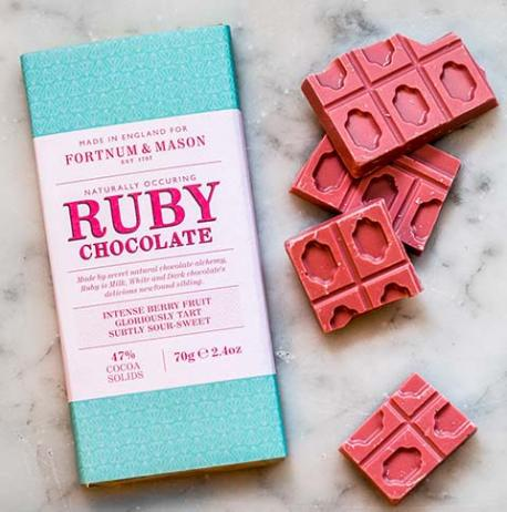 Patrick Peeters, the head of innovation and master chocolatier at Chocolove in Boulder, Colo., said ruby chocolate has a lot of berry notes with a balance of sweet and milky that lends itself to be paired with fruit, coffee, tea, wines, cheeses and herbs.