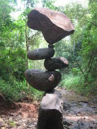 To me, it is fascinating and relaxing to see objects balanced in ways few people thought possible. Is it relaxing to you or are you just anticipating the object falling? *photo credit*
