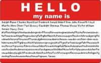 The longest documented name ever belongs to a German-born Philadelphia (1904 - 1985) whose name was legally changed by him, in 1975, to