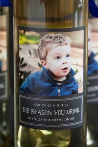 When Stacy Dutton wanted to give her son's teachers a special gift for National Teacher Appreciation Week this spring, the mom-of-two designed a personalized wine bottle label featuring his photo and the cheeky statement:
