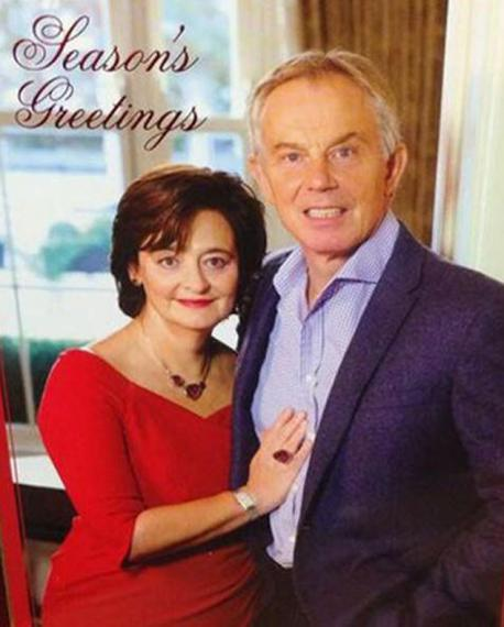 Other politicians in the past have been criticized for their inappropriate holiday cards, some merely for being really odd choices, or some for being in bad taste. Tony Blair, the former British Prime Minister sent out this card last year, and comments ranged from