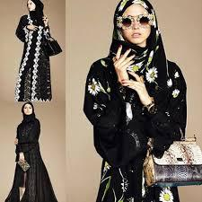Dolce & Gabbana exclusively debuted its Abaya collection on Style.com/Arabia on Sunday. The range consists of hijabs and abayas in neutral colors made from sheer and lightweight fabrics, such as georgette and satin weave charmeuse. A few pieces feature lush lace trims or prints from the Italian fashion label's spring 2016 collection, including lemons, daisies and polka dots. Have you seen pictures of this collection?