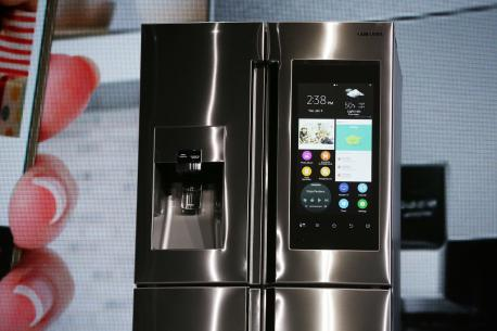 More than just a repository for your leftovers, the Family Hub refrigerator from Samsung is designed to keep your kitchen fully stocked and serve as the digital command center of your household. A digital screen on the outside allows you to post, share and update calendars, pin photos and artwork and leave notes, all from your smartphone. It can also show the weather, play recipe videos and stream music from other devices. But perhaps the best part: You can actually order groceries via an app on the refrigerator's screen. But if you'd rather go to the market yourself, three cameras on the inside take a picture of the fridge's content every time you close the doors, allowing owners to take a peek at what you have at home even while you're out. It will available in the spring, but no price yet is known.