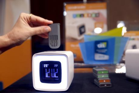 Rise and shine in the future with the Sensorwake alarm clock that awakens your sense of smell. An aroma module inserted in the clock releases your choice of scent, including croissant, espresso, seaside, lush jungle, chocolate or peppermint, designed to gently wake you up at the programmed time. And if you are wont to set multiple alarms, the clock will sound an audible one if you haven't