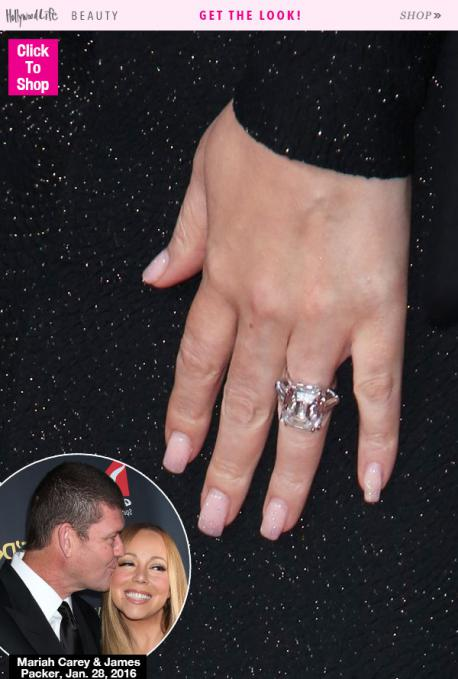 Mariah Carey likes to do things big. Big voice, big personality, and now...Big engagement ring. For Mariah's recent engagement, fiancee James Packer presented the singer with a 35 carat diamond ring, estimated to cost between $8,000,000-$10,000,00. Yes, for more money than most of us will ever earn in a lifetime, or several lifetimes, this ring not only sells for this amount, it is reportedly so heavy, Mariah jokes she can barely lift her hand. Your opinion on this...
