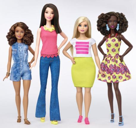In an effort to remain topical and get back their slagging sales, Mattel announced a big make-over for their Barbie doll line, one of the biggest overhauls in years. Now, the Barbie line will include dolls that are curvy, tall or petite, and each line will have 7 different skin tones, 22 eye colors and 24 hairstyles. These dolls, as diverse as the children who will play with them, will show children that we all come in different shapes, sizes and colors. Do you applaud Mattel's new Barbie designs?