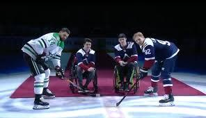 You could literally hear the puck drop at the Colorado Avalanche--Dallas Stars NHL hockey game on Saturday night, as two survivors of the Saskatchewan Humboldt hockey team bus accident came to center ice. Decked out in Avalanche jerseys, the two were honoured with individual video tributes before making their way to center ice and dropping the ceremonial puck(s). Ryan Straschnitzki and Jacob Wassermann were two of the lucky ones. The junior hockey careers for the two players ended April 6 when the Humboldt Broncos team bus and a semi-trailer collided. Sixteen people were killed and 13 injured. Straschnitzki was paralyzed from the chest down and Wassermann from below the navel. The day before the NHL game, the pair of former teammates reunited on the ice for the first time wearing Humboldt Broncos jerseys with the word 'survivor' across their backs, and took part in an exhibition sledge hockey game at the University of Denver. Do you remember hearing about this accident?