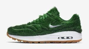 ...But on top of your feet is fine, for $140 a pair? In what is surely one strange pair of shoes, Nike has just announced they will release a new pair of golf shoes, inspired by the courses they will be played on. There's no word on when the Air Max 1 Golf
