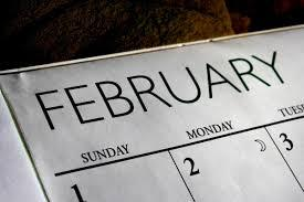 Now, about all those holidays and special events...will you be celebrating or observing any of these that all take place in February?