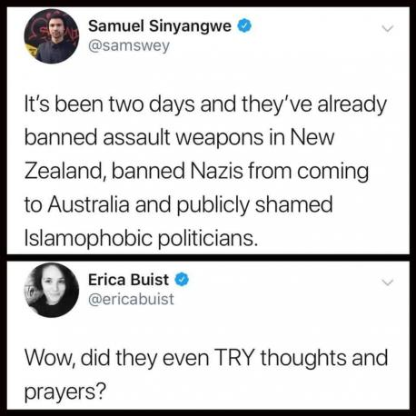 PM Ardern also condemned the act as an act of terrorism, called out Islamophobic politicians, most notably Australian Sen. Fraser Anning who tweeted out Islamophobic tweets such as