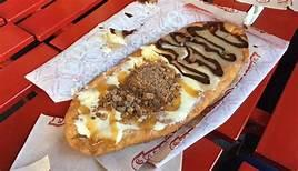 And us Canadians should not feel left out -- this month, BeaverTails (which are fried dough pastries, individually hand stretched to resemble beaver's tails) is launching not one, not two, but eight new flavors. The traditional BeaverTail with a sprinkle of cinnamon and sugar has been popular since it was introduced in 1978, but a few months ago, BeaverTails released a poutine-flavored BeaverTail that was a big hit. The eight new flavors, including the poutine flavor, will be introduced in select stores, and if they catch on, could become a permanent selection. Which of the new flavors do you think sound good?