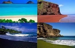 All over the world, there are beaches in fantastic colours. Have you ever been to any of these unusually coloured beaches?
