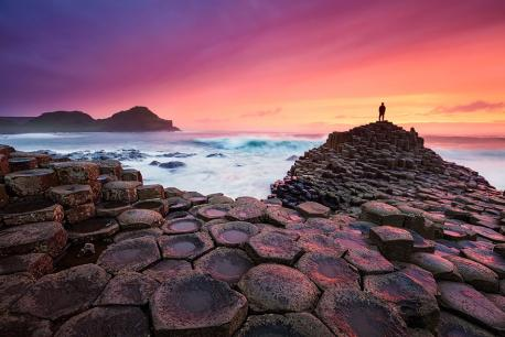 Giants Causeway Beach, Ireland was formed 50-60 million years ago when basalt lava rose to the surface and cooled, cracking into strange, large columns. I've seen photos of this beach, and thought it looked almost prehistoric. Do you agree?