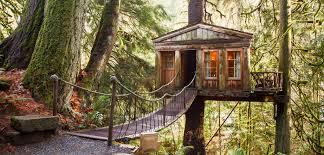 Well, maybe a giant hot dog is not your choice of lodging, but there may be one on this list that checks all the boxes for you. Ever dreamt of sleeping in an adult treehouse...you can in Treehouse Point in Washington, just 30 minutes outside of Seattle. There are half dozen furnished treehouses for guests to sleep in, plus lodges that can be used as event spaces. Your treehouse won't have a bathroom (there are communal bath houses for that), but it is a treehouse, after all. Would you like to stay here for the night?