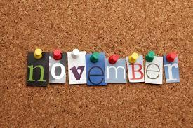 With Halloween a not very distant memory, fall's colours blowing away, and the holiday season still over a month away, what does November have to offer? Apparently a lot, if you look at this list. What November happenings are you participating or celebrating this month?