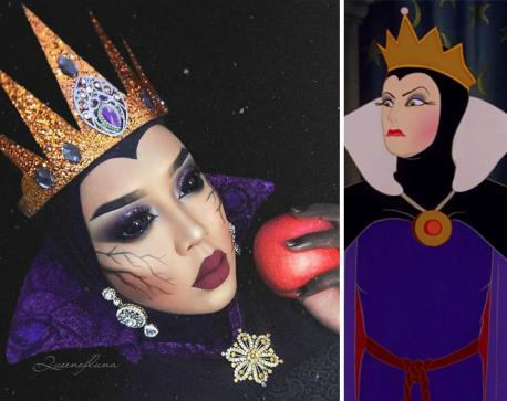 As the evil queen from Snow White, I think she really captures it well. What do you think of this transformation?