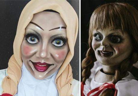 Now, we're just getting downright macabre with Annabelle, from the 2014 movie of the same name. What do you think of this?