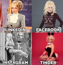 Dolly Parton has sparked a new photo trend among celebrities after poking fun at a how people project different versions of themselves on various social media platforms. The singer posted on Instagram and Twitter a collage of mock-up profile pictures of herself for LinkedIn, Facebook, Instagram and Tinder. Adhering to the premise of each different virtual community, she joked: 'Get a woman who can do it all!'. Do you find her post funny?