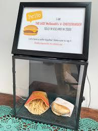 Artificial ingredients in fast food have long been a subject of concern. In Iceland, a McDonald's hamburger and fries have remained on display since the last McDonald's restaurant in the country closed in 2009. The burger and fries have remained preserved and mould-free for over 10 years, seemingly showing no signs of decay. Do you find this disturbing?