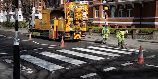 The wear and tear of that many visitors had taken its toll on the famous crosswalk, which was badly in need of some sprucing up. Are you taking advantage of your time now with doing some maintenance, repairs or spring cleansing?