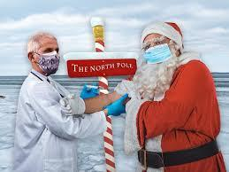 In the States, children can sleep better knowing that, according to Dr. Fauci, the top infectious disease specialist, Santa is