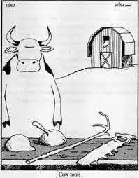 Larson did not always hit a home run. One of his most maligned comics was so odd, Larson himself had to issue a statement defending it. It was supposed to satirize the outdated anthropological belief that, of all creatures, only Homo sapiens make tools. Larson said