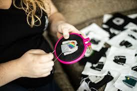 When Oakville, Ontario resident Bianca Smalley got laid off from her job as a graphic designer last year, as many of us did, she found herself drawn to two things -- Netflix and crafting. She decided to combine her love for cross-stitching and her favourite Netflix binge series,