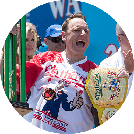 Guinness World Records, which has been documenting world records for over years, is constantly having their records beaten, often by the same determined person. Champion eater, Joey Chestnut, broke his own world record yet again, at the Nathan's Famous International Hot Dog Eating Contest. this Fourth of July. He won 14 out of the last 15 years, breaking his own record almost every time (with one or two ties). Do you think people who try and beat their own records are...