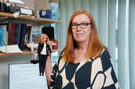 Oriuwa is one of six women who inspired Mattel's special collection of Barbies honouring health workers on the front lines of the COVID-19 crisis. Also among the female scientists being celebrated are U.K. vaccinologist Sarah Gilbert, who co-developed the Oxford-AstraZeneca jab, Brazilian biomedical researcher Dr. Jaqueline Goes de Jesus, who is credited with leading the sequencing of the genome of a COVID-19 variant in Brazil, U.S. Emergency Room nurse Amy O'Sullivan who treated the first COVID-19 patient at the Wycoff Hospital in Brooklyn, NY, and who later contracted the disease, but soon returned to work to continue to help others, U.S. Dr. Audery Cruz, a frontline worker from Las Vegas, NV, who during the pandemic, joined forces with other Asian-American physicians to fight racial bias and discrimination, and Australian Dr. Kirby White, who co-founded Gowns for Doctors, a gown that could be laundered and re-used, allowing frontline workers in Victoria, AU to continue seeing patients during the pandemic. Only one doll was made for each of the real-life