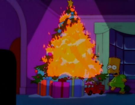 Has your Christmas tree ever caught on fire?