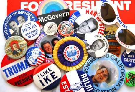 Do you collect political campaign buttons?