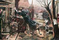 The myth mentions that Paul Revere rode through the night to warn the colonists that