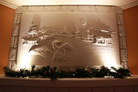 As soon as I saw these sculptures, I imagined that right on top of my fireplace with soft lights. Would you like to get a drywall sculpture in your home?