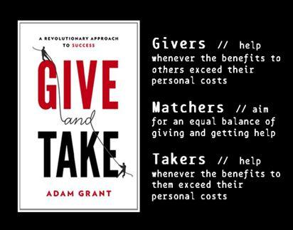The opposite is a giver. Somebody who approaches most interactions by asking,