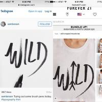 On September 28, artist Sam Larson posted to his Instagram account an image of a drawing he created two years ago next to a recently-manufactured Forever 21 t-shirt with a strikingly similar graphic.