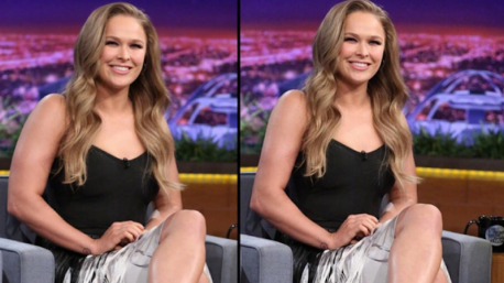 The UFC fighter, who appeared on The Tonight Show on Tuesday, shared an image from the taping to her Instagram. But commenters quickly began questioning if the image had been digitally altered, mainly to slim her arms and face.</span></p><p> Can you see a difference between the two images?
