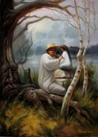 Can you see the hidden face in this painting?