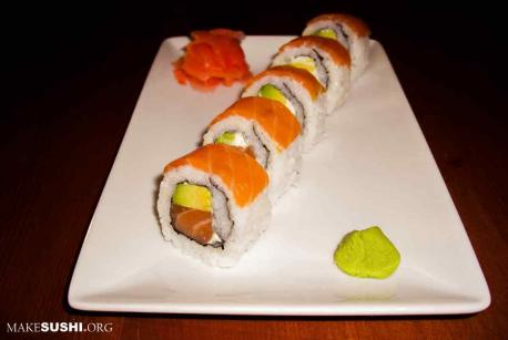 Do you like salmon sushi rolls or some other type of raw fish sushi?