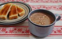 Do you like to eat toast with your hot chocolate?