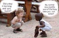 Do you think children really see differences in skin color when playing together? (Not literally but psychologically)